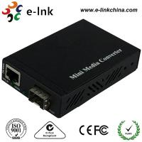 Buy cheap Mini 10 / 100 / 1000M SFP Fiber Ethernet Media Converter Not Included the SFP Modules with External Power Supply from wholesalers