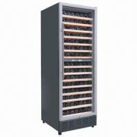 China Glass Door Wine Refrigerator/Cooler, 161 Bottles, Built-in Light and LED Display wholesale