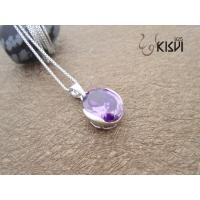 China New fashion cute 925 sterling silver pendant with purple zircon W-VB892 wholesale