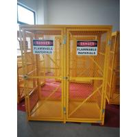 "China 71-3/4"" X 60"" X 30"" Assembled Yellow Industrial Safety Cabinets Gas Cage Cylinder Storage wholesale"