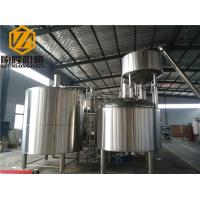Quality Stainless Steel Brewhouse Equipment , 20HL Steam Heated Beer Fermentation for sale