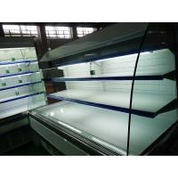 China White 2.5meter Multideck Open Chiller , Low Height Open Display Showcase Cooler wholesale