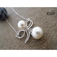 China 925 sterling silver necklace with immitation pearl W-VD147 wholesale