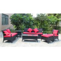 China 6 piece -Outdoor Rattan Furniture teak wooden 3/2/ single sofa coffee table end table-YS5737 wholesale