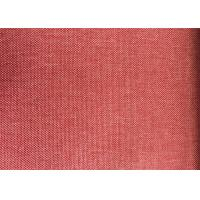 China Red Blackout Curtain Lining Fabric Plain Anti-Static For Home wholesale