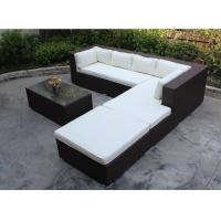 China 4 piece -L shaped hotel lobby sofa commercial hotel furniture rattan sofa bed set-16202 wholesale