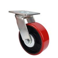 China Heavy wheels of industrial Caster with red PU wheel wholesale