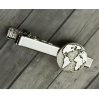China Metal Skinny Tie Bar Clip For Valentines Day , Engraved Tie Pin Customized wholesale