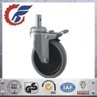 China 5 inch swivel stem caster wheel with total lock for hopital bed from china supplier on sale