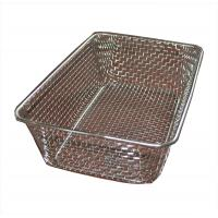 China Food grade Woven Wire Metal Wire Basket , Stainless Steel Wire Mesh Baskets wholesale