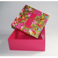 China Custom Printed Rigid Cardboard Clothes Packing Paper Box wholesale