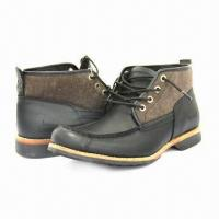 China Men's Fashionable Leather Shoes with Stacked Heels wholesale