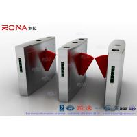 China 3 Lanes Flap Barrier Gate Flap Automatic Swing Barrier Gate Card Collector For Biometric Access Control wholesale