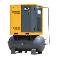 China Cheap price of Airhorse 7.5 KW 10 HP screw air compressor mounted air tank wholesale