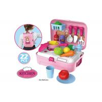 China Portable Backpack Kitchen Role Play Toys , Pretend Play Children's Cooking Set wholesale
