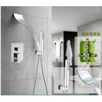 China Space Saving Waterfall Shower Faucet , Shower Faucet Set With Hand Shower Spray wholesale