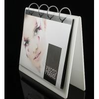 China White Acrylic Calendar Holder , Desk Calendar Stand 16 * 22cm wholesale