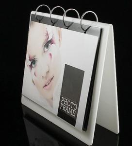China White Acrylic Calendar Holder , Desk Calendar Stand 16 * 22cm wholesale