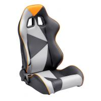 China Adjustable Style PU / PVC Leather Racing Seat / Sports Car Seat with single slider wholesale