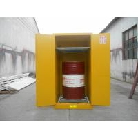 China Vertical Oil Drum Storage Cabinets , Flammable Safety Cabinet 75 Gallon wholesale