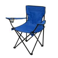 China Steel Tube Foldable Camping Chair , Coxford Cloth Folding Arm Chair 50cmx50cm on sale