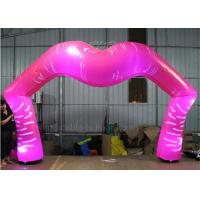 China LED Lighting Inflatable Arch For Wedding Red Lip Shape Double Stitch wholesale