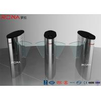 China Turnstile Flap Barrier Gate Barcode Scanner Electronic 304 Stainless Steel Material wholesale
