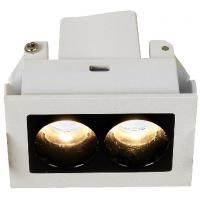 Buy cheap Recessed double multi spot luminaire  with 2x2.1watt led lamp equipped dimmable led driver from wholesalers