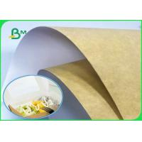 China 250GSM - 360GSM 650mm * 889mm Food Grade White Top Kraft Liner Paper For Food Packing wholesale