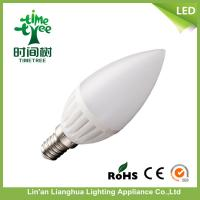 China Office Ceramic LED Candle Light Bulbs Warm White 6500k , LED Candelabra Bulbs on sale
