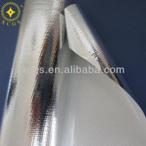 China Aluminum foil woven fabric, woven cluminum foil, foil scrim insulation material on sale