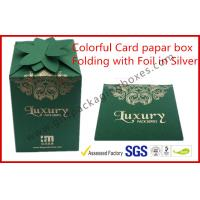 China Fashion Green Card Board Packaging Box Rectangle for supermarket wholesale