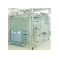 China Movable Vertical Air Flow SoftWall Clean Room 304 Stainless Steel Cleanroom wholesale