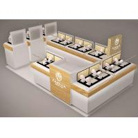 China Small Space Retail Shopping Mall Kiosk / Jewellery Display Cabinets Stable Structure wholesale