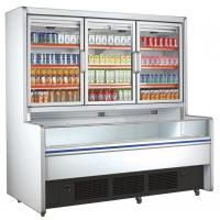 China Retail Commercial Beverage Display Refrigerator With 3 Glass Doors wholesale