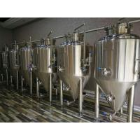 China SUS304 Cooling jacket top flange manhole  500L Conical beer fermenter tank wholesale