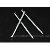 """China Flat Head Nails 2"""" X BWG 12 , Diamond Point Screw Shank Nails Weather Resistance wholesale"""