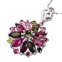 China 2012 fashion design crystal silver gemstone pendant K-BC-C1069 with competitive price wholesale