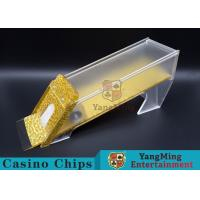 China Anti - Cheating Casino Card Shoe / 8 Deck Shoe With Customized Logo Print wholesale