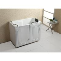 China Air Bubble Massage Walk In Tub And Shower Combination Glossy Surface Finish wholesale
