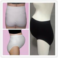 Quality Stretchable Seamless Maternity Briefs , Black / White Maternity Pants for sale