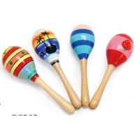China Wood Toy Music Instrument , Cute Colored Orff Wooden Maracas wholesale