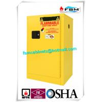 Quality Flammable Liquid Safety Storage Cabinets Adjustable Shelf For Chemical Hazardous Goods for sale