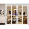 China Weatherproofing Bifold Sliding Doors , White Aluminium Sliding Glass Doors wholesale
