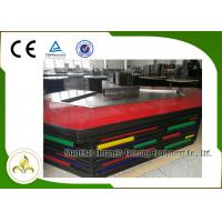 China Bridge Shape Upper or Down Fume Exhaustion Teppanyaki Grill Table With 11 Seats wholesale