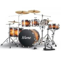 Quality Professional Lacquered Birch Wood 7 Piece Adult Drum Set With Remo Drumhead for sale