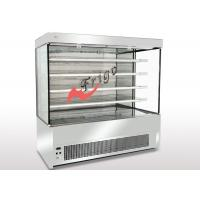 China Stanless Steel Open Display Cases , Upright Open Chiller Supermarket Showcase on sale