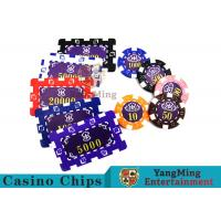 China Aluminum Dedicated Casino Poker Chip Set With UV Anti - Release Function wholesale
