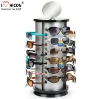 China Counter Top Sunglasses Display Case Round Shape Metal Eyeglass Display Rods wholesale
