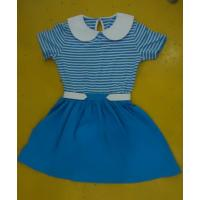 China Blue Striped Children'S Cotton Pajamas Matching Brother Sister Clothes wholesale